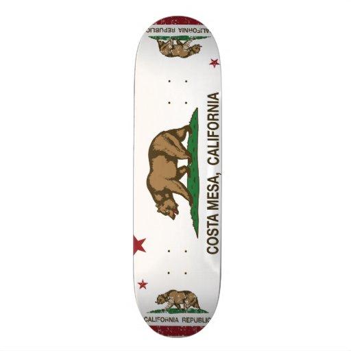 California State Flag Costa Mesa Skate Board