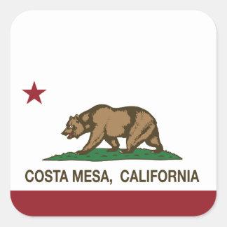 California State Flag Costa Mesa Square Sticker