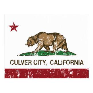California State Flag Culver City Postcard