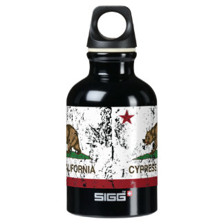 California State Flag Cypress Water Bottle