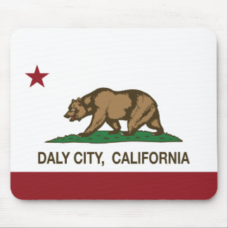 California State Flag Daly City Mouse Pad