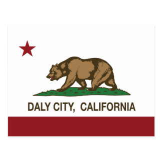 California State Flag Daly City Postcard