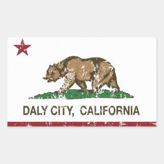 California State Flag Daly City Rectangular Sticker