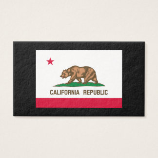 California State Flag Design Business Card
