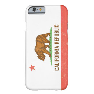 California State Flag Distressed Barely There iPhone 6 Case