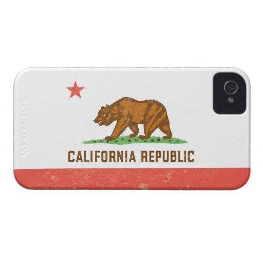 California State Flag Distressed iPhone 4 Case