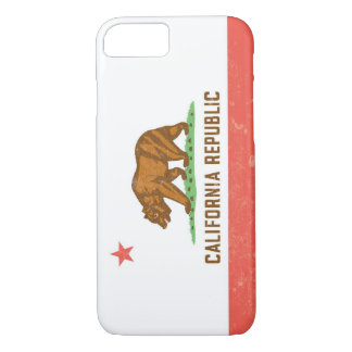 California State Flag Distressed iPhone 7 Case