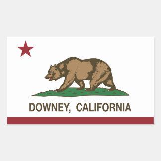 California State Flag Downey Rectangular Sticker