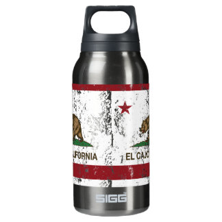 California State Flag El Cajon Insulated Water Bottle