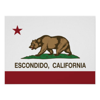 California State Flag Escondido Poster