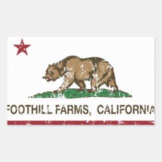 California State Flag Foothill Farms Rectangular Sticker