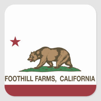 California State Flag Foothill Farms Square Sticker