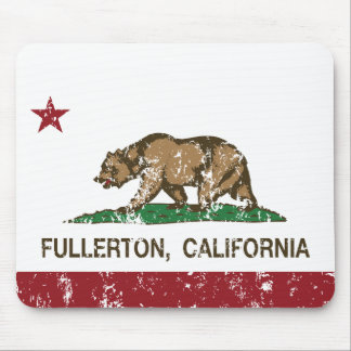 California State Flag Fullerton Mouse Pad