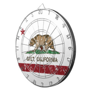 California State Flag Galt Dartboard With Darts