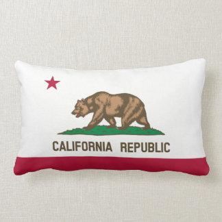 California State Flag Grizzly Bear Lumbar Pillow