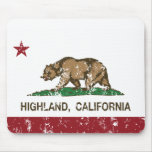 California State Flag Highland Mouse Pads