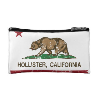 California State Flag Hollister Cosmetic Bag