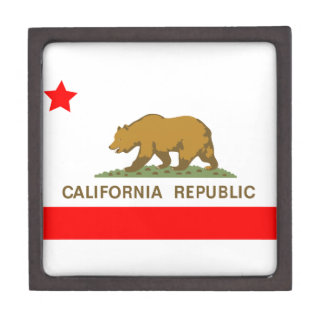 California State Flag Keepsake Box
