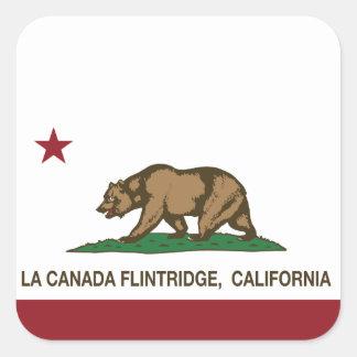 California State Flag La Canada Flintridge Square Stickers