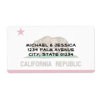 California State Flag Label