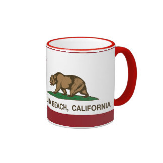 California State Flag Laguna Beach Ringer Coffee Mug