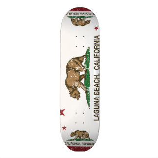 California State Flag Laguna Beach Skateboard