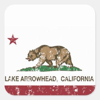 california state flag lake arrowhead square sticker