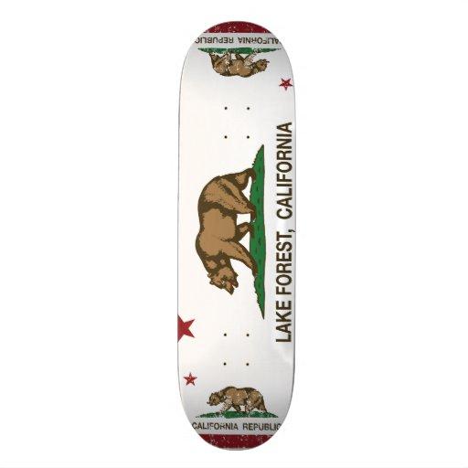 California State Flag Lake Forest Skate Board Decks