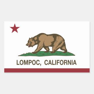 California State Flag Lompoc Rectangular Sticker