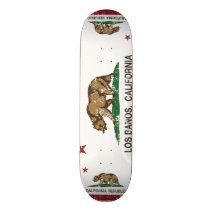 California State Flag Los Banos Skateboard