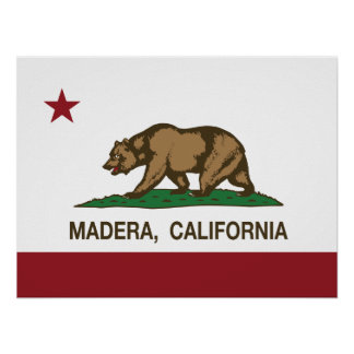California State Flag Madera Poster