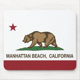 California State Flag Manhattan Beach Mouse Pad