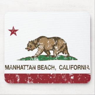 California State Flag Manhattan Beach Mouse Pads