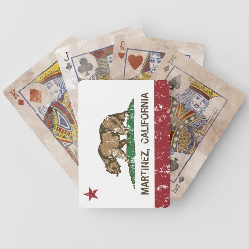 California State Flag Martinez Bicycle Playing Cards