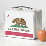 """California State Flag Metal Lunch Box<br><div class=""""desc"""">This lunch box features the Bear flag of the California Republic</div>"""