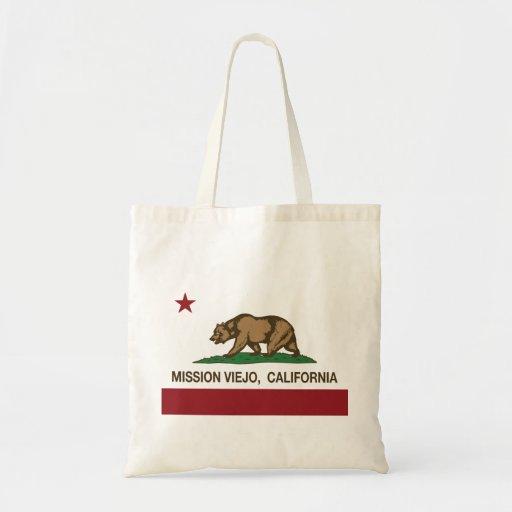 California State Flag Mission Viejo Canvas Bag