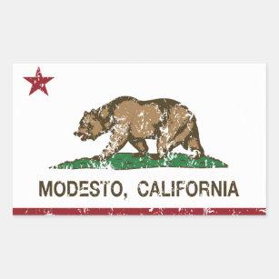California State Flag Modesto Rectangular Sticker
