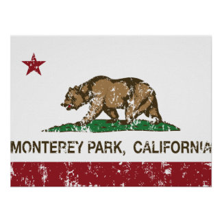California State Flag Monterey Park Posters
