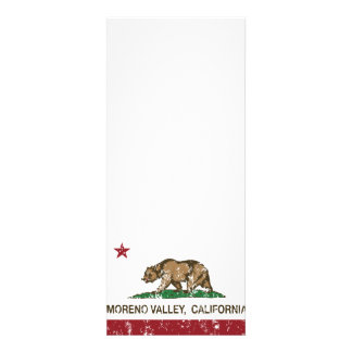California State Flag Moreno Valley Personalized Announcement