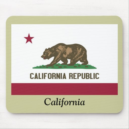California State Flag Mouse Mats