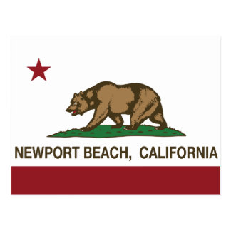 California State Flag Newport Beach Postcard