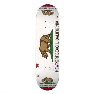 California State Flag Newport Beach Skateboard Deck