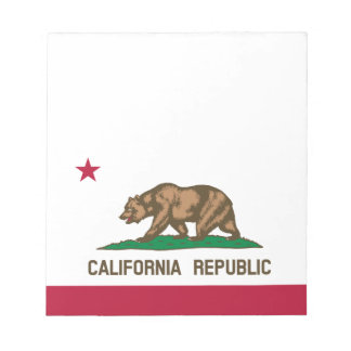 California State Flag Notepad