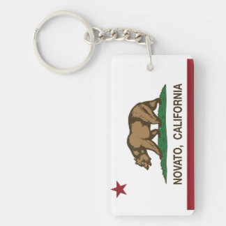 California State Flag Novato Rectangular Acrylic Keychains