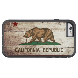 California State Flag on Old Wood Grain Tough Xtreme iPhone 6 Case