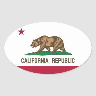 California State Flag Oval Sticker