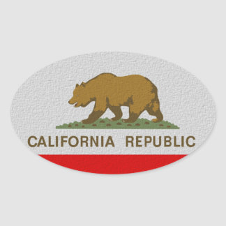 California State Flag Oval Sticker