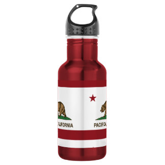 California State Flag Pacifica Stainless Steel Water Bottle