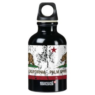 California State Flag Palm Springs Aluminum Water Bottle