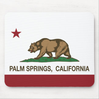 California State Flag Palm Springs Mouse Pad